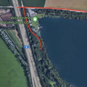 Waidsee nähe Wassersportclub