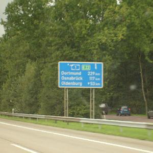 A1 Richtung OS, Parkplatz Ahlken