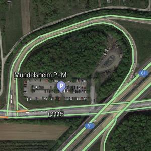 P+R A81 Ausfahrt Mundelsheim