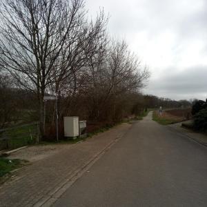Belm Bruchweg Ecke im Diekfeld da runter Wanderweg