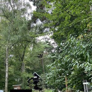 Parkplatz und Hütte Drei Eichen