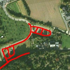 Liedberg Parkplatz an der Burgruine