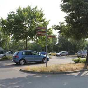 Parkplatz alte spinnerei am finanzamt
