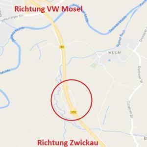 Parkplatz B93 vor Zwickau (Höhe VW Mosel)