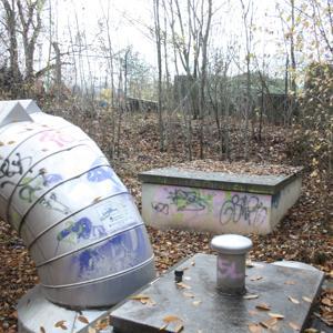 Fernwärme Rohre am Alten Milchhof