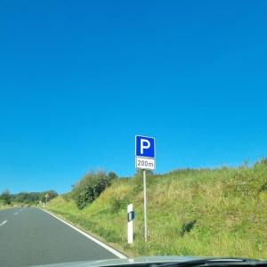 Kleiner Parkplatz zwischen Gerolstein und Daun