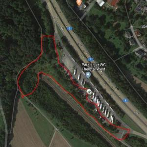 A3 Parkplatz Theißtal zwischen Frankfurt und Köln