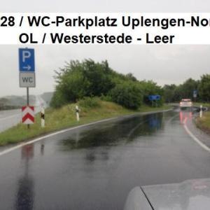 WC-Parkplatz A 28 in Uplengen ( Nord und Süd )